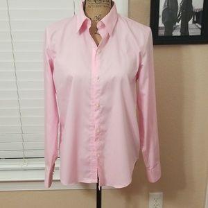 Button up pink Ralph Lauren blouse size medium